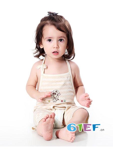明德任责童装品牌男女宝宝有机彩棉夏季薄款肚围肚兜