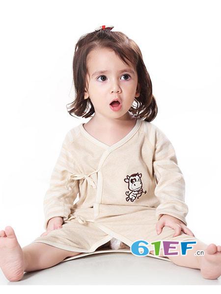 明德任责童装品牌有机纯棉夏季薄款睡衣 蝴蝶哈衣爬服