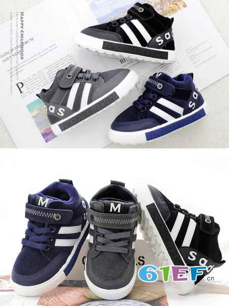 广迪童鞋品牌保暖运动棉鞋