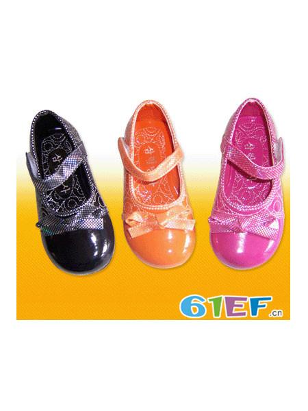 小百合童鞋品牌单鞋真皮中大童红色黑色公主鞋