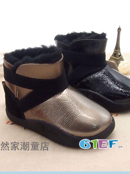 森林大王童鞋品牌2017秋冬加厚亮皮加绒正品矮筒靴