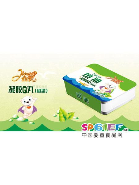 金沃婴儿食品鱼油凝胶Q丸(鱼型)