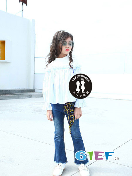 下一个奇迹童装品牌2018春夏韩式休闲蓬蓬袖女上衣
