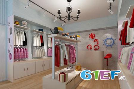 品牌童装店铺展示