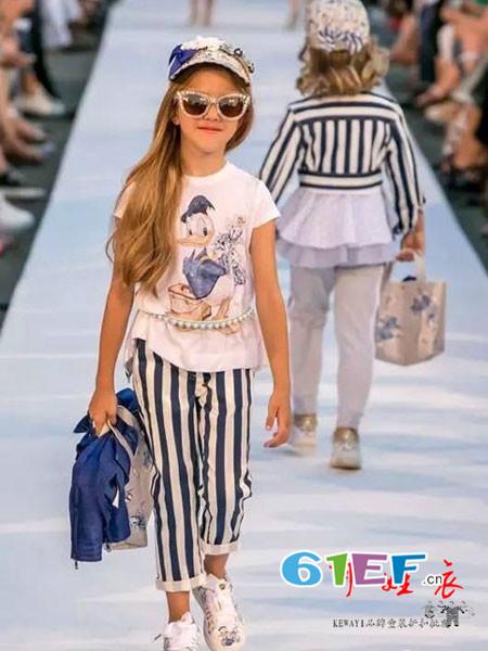 品牌童装童装品牌2018春夏时尚休闲卡通女T恤