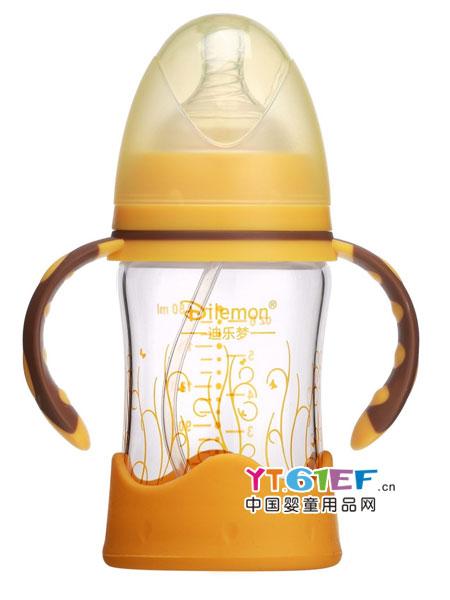 迪乐梦婴童用品全自动晶钻防摔宽口径奶瓶