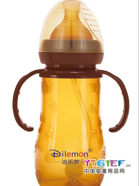 迪乐梦婴童用品全硅胶纳米银抗菌宽口径奶瓶
