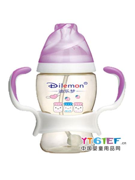 迪乐梦婴童用品蜜蜂型宽口防摔玻璃奶瓶