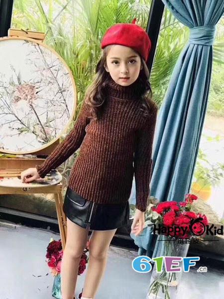 小嗨皮童装品牌2018春夏时尚保暖半高领百搭修身女毛衣