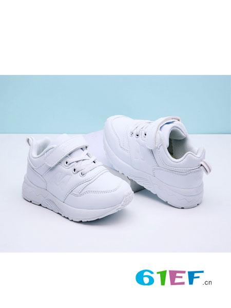 牧童童鞋.童鞋品牌2017秋冬男童白色运动鞋女童白鞋防滑学生班鞋校鞋