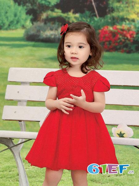 卡莎梦露童装品牌圆领短袖连衣裙