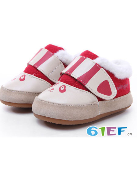 贝比豆童鞋品牌2017秋冬女宝宝稳步鞋幼儿学步鞋机能鞋