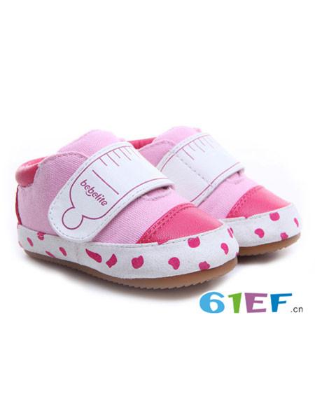 贝比豆童鞋品牌2017秋冬女宝宝稳步鞋幼儿软底学步鞋机能鞋