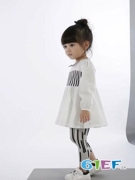 酷小孩童装品牌2018春夏韩版长袖连衣裙