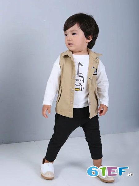 酷小孩童装品牌2018春夏时尚百搭棉马甲