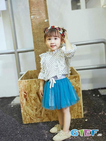 森点 童装品牌2018春夏韩版时尚小波点衬衫