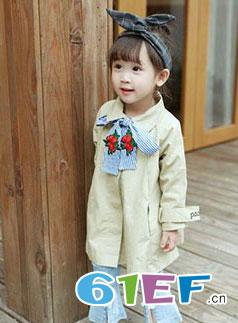 森点 童装品牌2018春夏韩版纯色长袖上衣