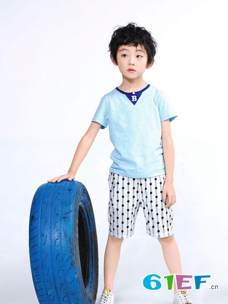 班吉鹿banjilu童装品牌2018春夏纯棉短款T恤上衣