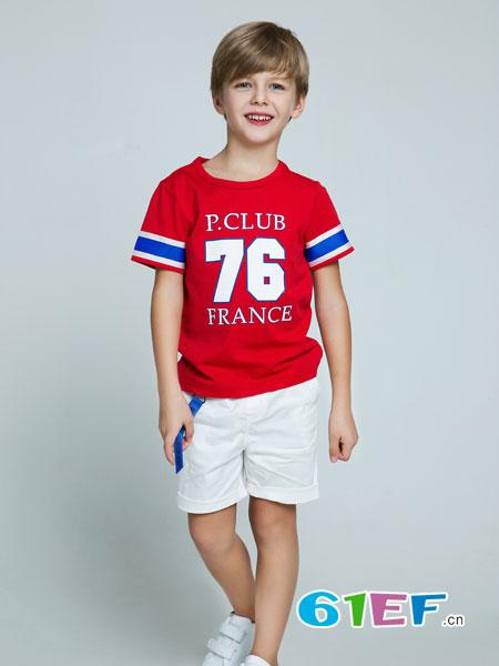 poipoilu(泡泡噜)童装品牌2018春夏休闲圆领运动短袖t恤