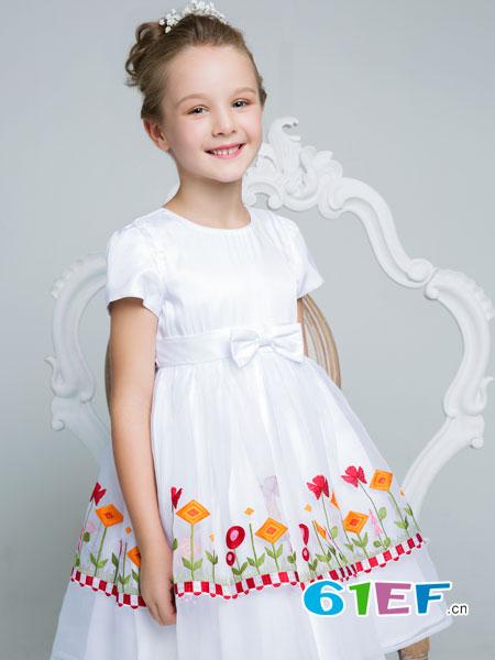 poipoilu(泡泡噜)童装品牌2018春夏韩版修身公主裙时尚连衣裙