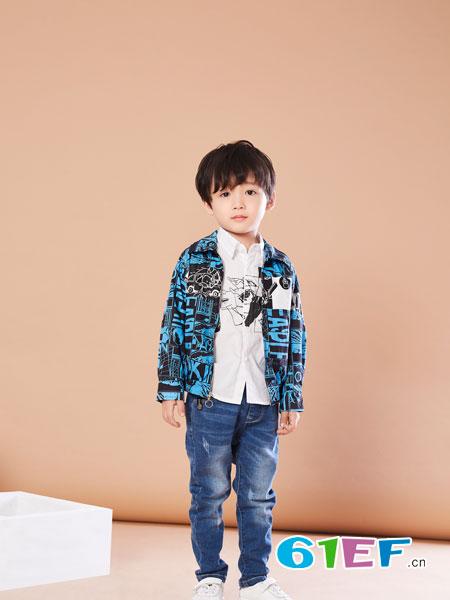 贝布熊BeiBuXiong童装品牌2018春夏时尚字母印花休闲外套