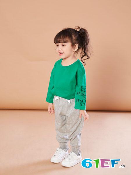 贝布熊BeiBuXiong童装品牌2018春夏纯棉长袖圆领上衣