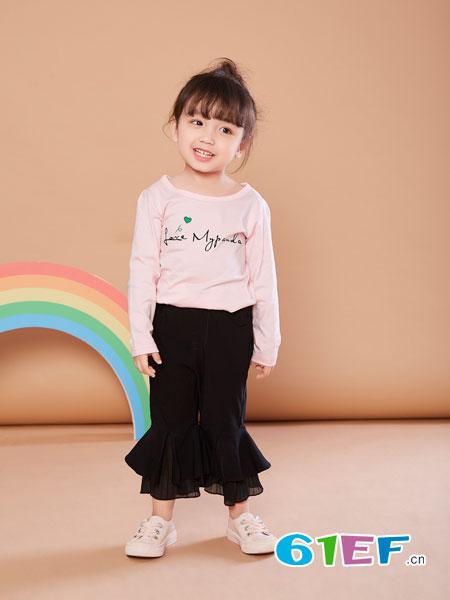 贝布熊BeiBuXiong童装品牌2018春夏纯棉圆领长袖上衣