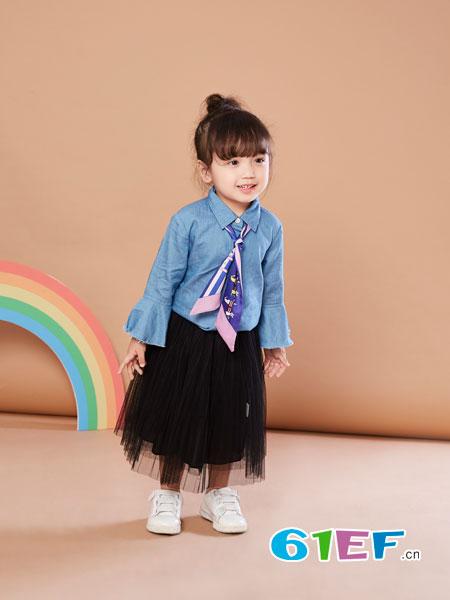 贝布熊BeiBuXiong童装品牌2018春夏修身长袖衬衫