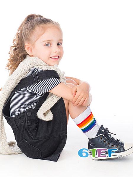 KIDS.ING童鞋品牌2017秋冬男童高帮板鞋女童系带休闲鞋宝宝加绒棉鞋