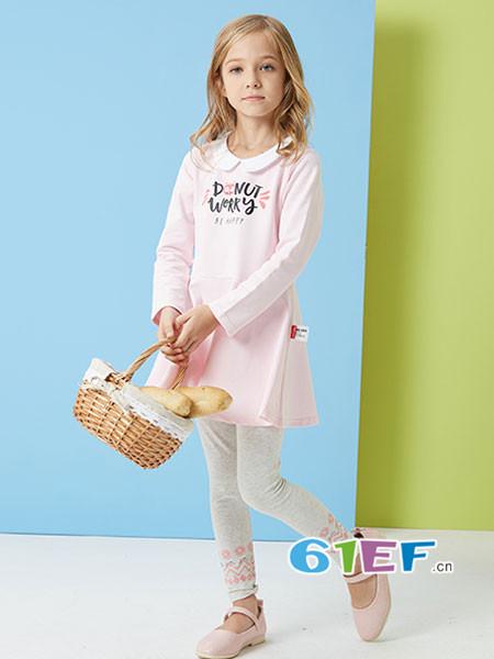 ABC KIDS童装品牌2018春夏圆领公主裙小童长袖连衣裙