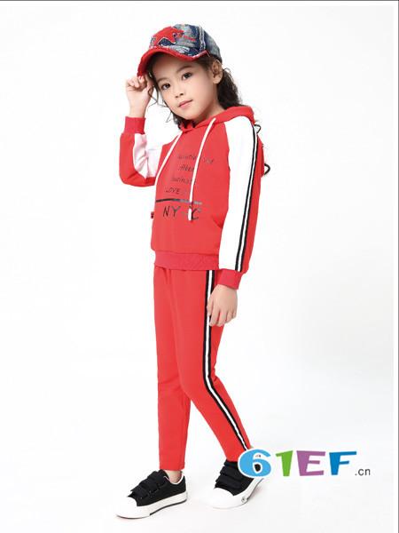 Kimi&Cindy童装品牌2018春夏新款韩版时尚运动休闲套装