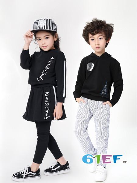 Kimi&Cindy童装品牌2018春夏加绒针织衫长袖高领上衣潮