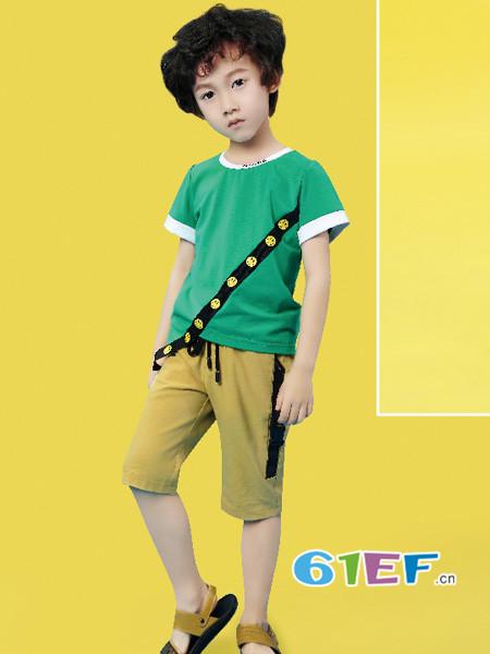 Kimi&Cindy童装品牌2018春夏棕色短裤