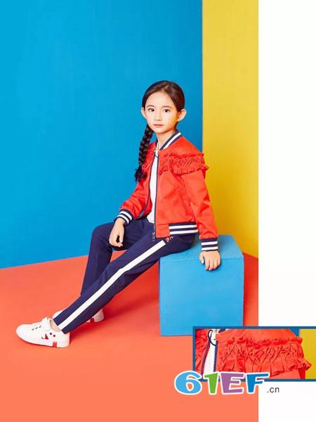 红蜻蜓KIDS童装品牌2018春夏褶皱棒球衫