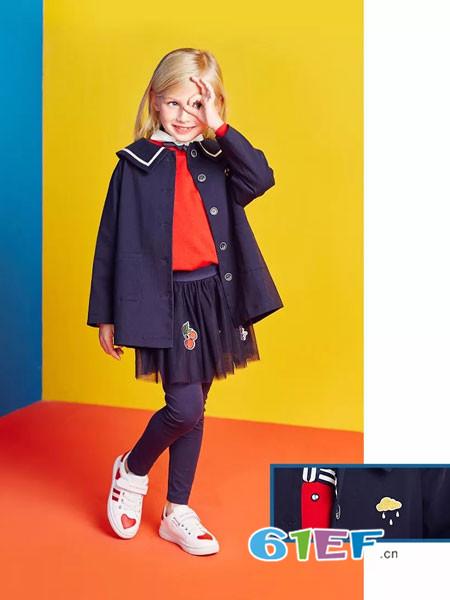 红蜻蜓KIDS童装品牌2018春夏优雅俏皮学院风外套