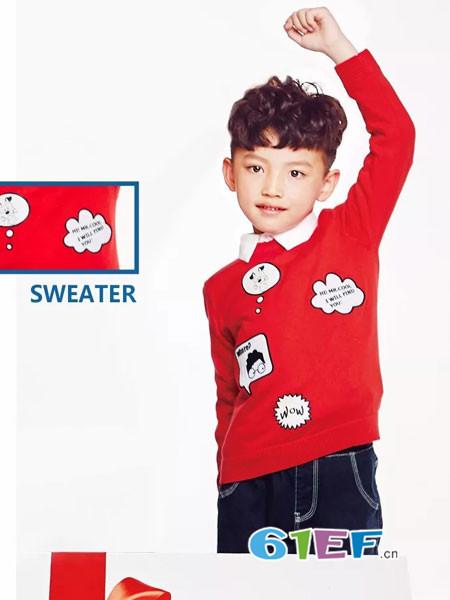 红蜻蜓KIDS童装品牌2018春夏潮酷温暖的毛衫