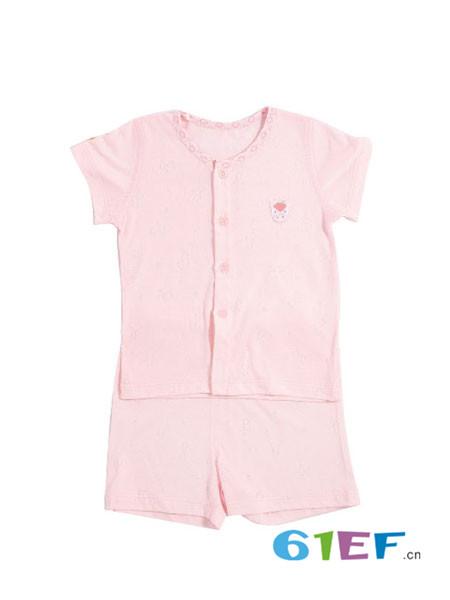 璐·迪尔龙8品牌2018春纯棉女宝T恤短裤