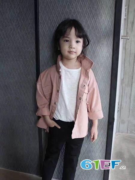 小嗨皮龙8国际娱乐官网品牌2018春夏休闲粉色外套