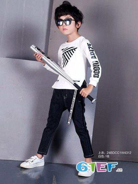 007童品童装品牌2018春夏运动T恤