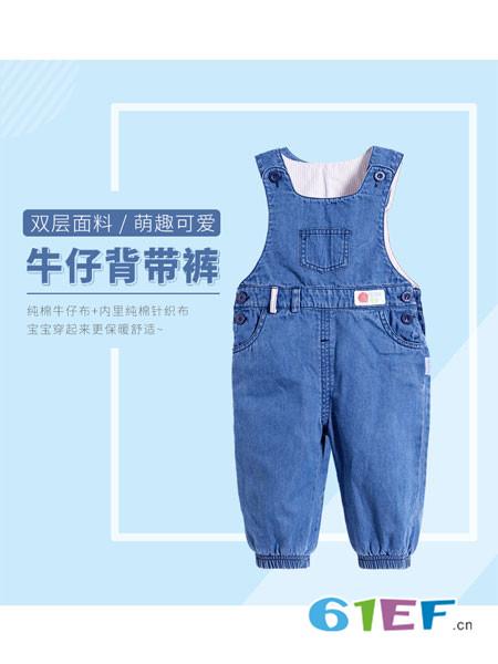 贝贝怡童装品牌2018春夏牛仔背带裤