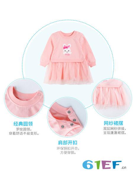贝贝怡童装品牌2018春夏小公主网纱裙