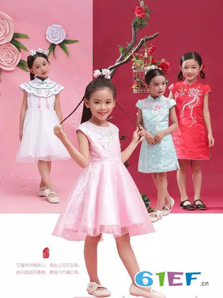 汪小荷童装品牌2018春夏无袖网纱时尚高腰裙