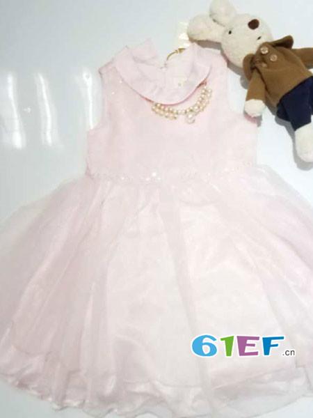 魔方童装品牌2018春夏韩式娃娃领公主裙