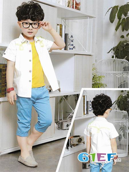 哈里瑞拉童装品牌2018春夏帅气百搭男童短袖外衣