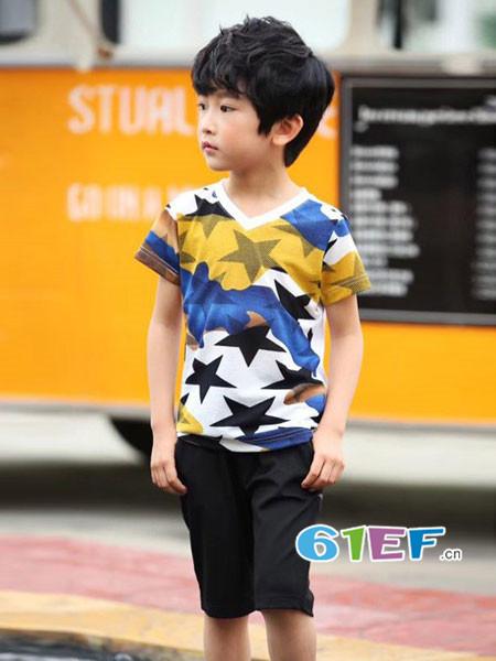 比奇童话龙8国际娱乐官网品牌2018春夏时尚休闲短袖男T恤
