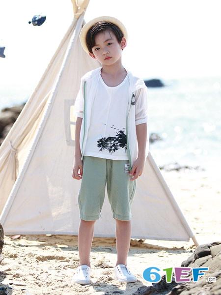 德蒙斯特童装品牌2018夏季短袖男童休闲百搭外衣