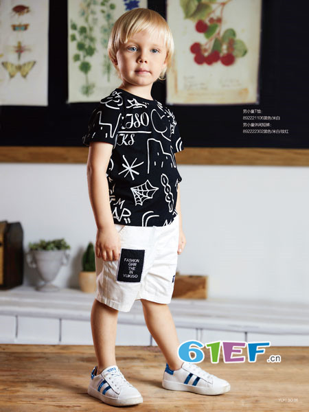 YukiSo童装品牌2018夏季时尚个性休闲百搭男T恤