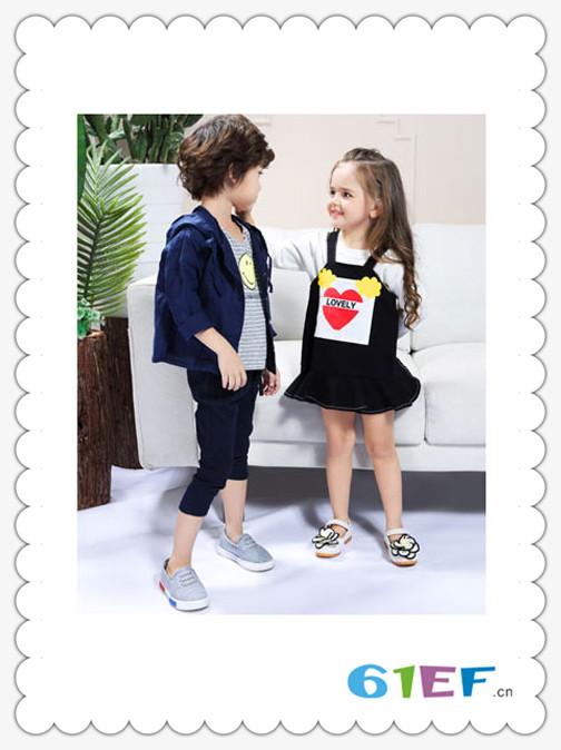 SCIACCAmini夏卡豆丁龙8国际娱乐官网品牌2018春夏休闲黑色时尚女童吊带裙