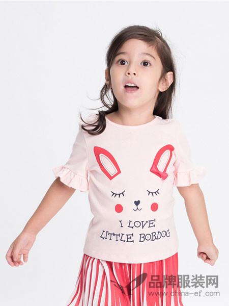 dishion的纯童装2018夏季可爱休闲百搭短袖花边上衣