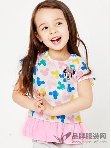 dishion的纯童装2018夏季可爱中小童休闲百搭上衣